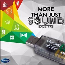 Quantum USB Sound Card QHM623 3D Virtual 5.1 Stereo & Mic for PC Laptop Desktop