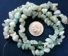 Amazonite chip beads 7x3mm natural semiprecious beads 140pcs 16 in strand sb009