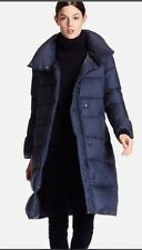 Uniqlo Light Weight Down Volume Collar Coat Navy Large