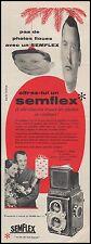 Publicité SEMFLEX  appareil photo vintage print ad  1956 - 8h