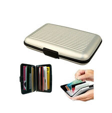 Visa Debit ID Business Smart Card Bus Train Pass Ticket Case Holder Purse Silver