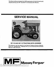 Massey Ferguson Models MF10 and MF12 SERVICE MANUAL Lawn and Garden Tractor LGT