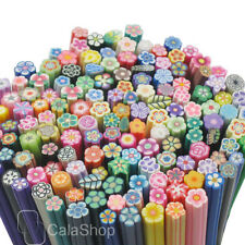 100 Pcs Nail Art Cane DIY Mixed Fimo Polymer Clay Flower Slice HB03
