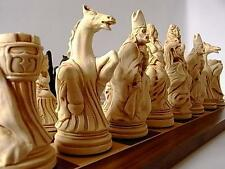 Gorgeous  large heavy complete set of louis XIV of france Chess Set game pieces
