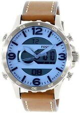 Fossil Men's JR1492 Brown Leather Quartz Watch