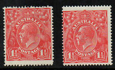 AUSTRALIA 1924 SG77 FLAWS.HEART SHAPE ON CROWN AND CURL ON RIGHT '1'