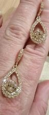 Givenchy Champagne Crystal Earrings New In Card