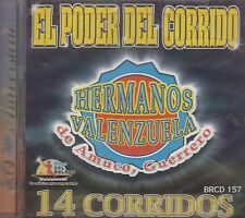 Hermanos Valenzuela De Amuco Guerrero 14 Corridos CD New Sealed Nuevo Sellado