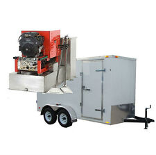 25HP Panther Truck Mount Carpet, Tile, and Air Duct Cleaning Equipment Trailer