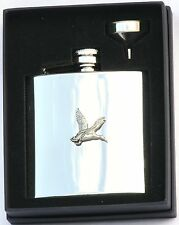 Mallard Duck 6 oz Hip Flask Personalised Shooting Gift Boxed FREE ENGRAVING