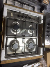 Neff T21S36NI Stainless Steel Gas Hob. Cast Iron Pan Supports