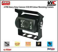 4 PIN Heavy Duty 12V 24V CCD IR Colour Reverse Reversing Camera Rear view