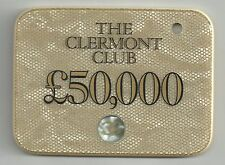 RARE £50,000 plaque from the Clermont Club Casino in London.