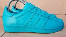 Adidas Superstar Pharrell Williams Shell Toe Tenis De Entrenamiento Talla 6 Reino Unido Laboratorio Verde En Caja