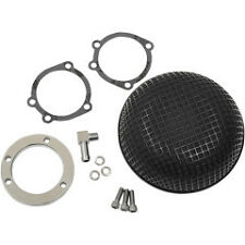 Black Retro‑Style Air Cleaner For Harley Davidson (CV and Delphi fuel‑injection)
