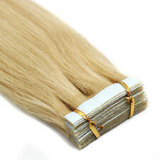 "Premium Seamless Weft Tape in 100% Real Remy Human Hair Extensions 16""18""20""22"""