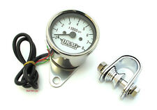 "★ Drag Specialties 2.4"" Electronic Mini Tachometer • White Face • 2211-0103 ★"