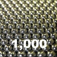 """1000 1/8"""" Inch G25 Precision 420 Stainless Steel Bearing Balls"""