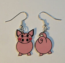 Pig Earrings Pigs Face Tail Mix Match Charms