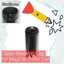 Stealthy Glass Breaking End Tail Cap for Mini MagLite 2AAA Cell Torch flashlight