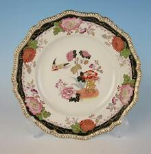 Antique Ashworth English Chinoiserie Plate Bird Flowers Imari Pottery China Bros