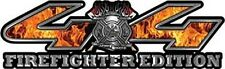 """4x4 Truck Decals Firefighter Edition Inferno Flames 14"""" REFLECTIVE 013"""