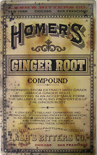 Homer's Ginger Root Home Remedies and MedicineRustic/Vintage Metal Sign