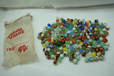 VINTAGE MARBLES LOT GLASS AKRO AGATE PELTIER SWIRL 183 PC COLLECTION MACHINE