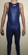 Mens Full Body TYR 28 Swimsuit Olympic Long Leg SkinSuit Speedsuit bodysuit $450