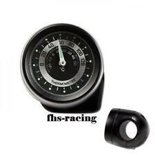 Motocicleta-manillar-termómetro, 7/8 pulgadas + 1 pulgadas, negro, resistente al agua, Top