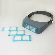Hot Optivisor Head Watch Repair Glasses Magnifying Eye Loupe 1.5X/2X/2.5X/3.5X