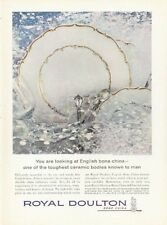 1961 Royal Doulton English Bone China Richelieu Pattern  PRINT AD