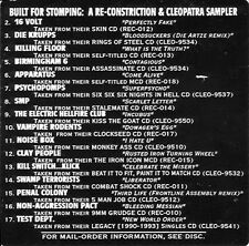Built For Stomping: A Re-Constriction/Clepatra Sampler (CD, CRV-002) OOP RARE