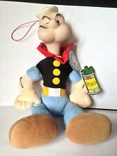 """Rare Vintage 1997 Popeye Soft Toy, 12"""" in Height with Tags, King Feature Synd."""