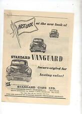 Standard Vanguard Original Advertisement removed from a 1952 Magazine