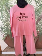 *Juicy Couture*2pc Women's Pajama Set Peach  Casual Lounge Wear Pants L Shirt XL