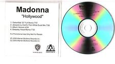Rare Radio Promo Acetate Madonna Hollywood 4 track 2003 CD 1