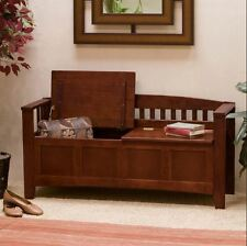 Wood Bench With Storage Front Entry Shoe Entryway Bedroom Seat Hallway Organizer