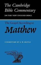 The Gospel according to Matthew (Cambridge Bible Commentaries on the New Testame