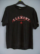 T Shirt Element T Shirt Black + Red & White Detail Wind Water Fire Earth Large