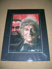 Limited Edition Dr Who Print by Duncan Gutteridge Jon Pertwee The Master SIGNED