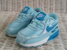 NIKE AIR MAX 90 PREMIUM MESH GIRL'S SNEAKERS Size 7C Copa/White-Blue 724878-400