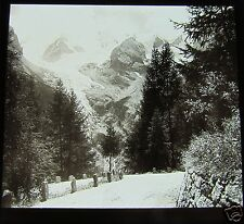 ROSCH Glass Magic lantern slide ORTLER - view 2 C1900 TYROL ITALY