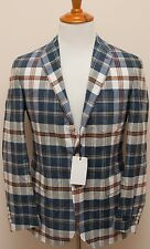 NWT Polo Ralph Lauren Cotton Patch Plaid Summer Blazer Sportcoat Jacket 46L