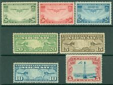 USA : Group of 7 Extra Fine-Superb, Mint Never Hinged Air Mails. Catalog $56.00.