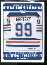 1999 Victory Wayne Gretzky Jersey Sweepstakes Card Victory Cards Redemption