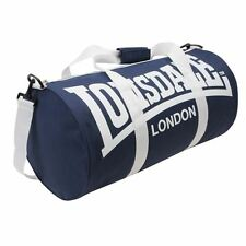 New LONSDALE BARREL GYM Sports Training BAG Holldal mens womens [Navy/White]
