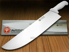 "BOKER ARBOLITO Kitchen Cutlery White Synthetic Poly 12"" Stainless BBQ Knife"