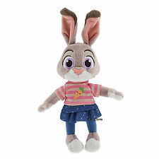 "NEW Zootopia 9"" Judy Hopps Bunny Rabbit Mini Bean Bag Plush Toy Disney Store"