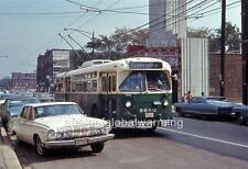 Photo. 1967-8. Chicago. Trolleybus at Belmont & Cicero